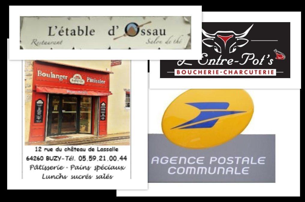 Nos commerces et services sur le village