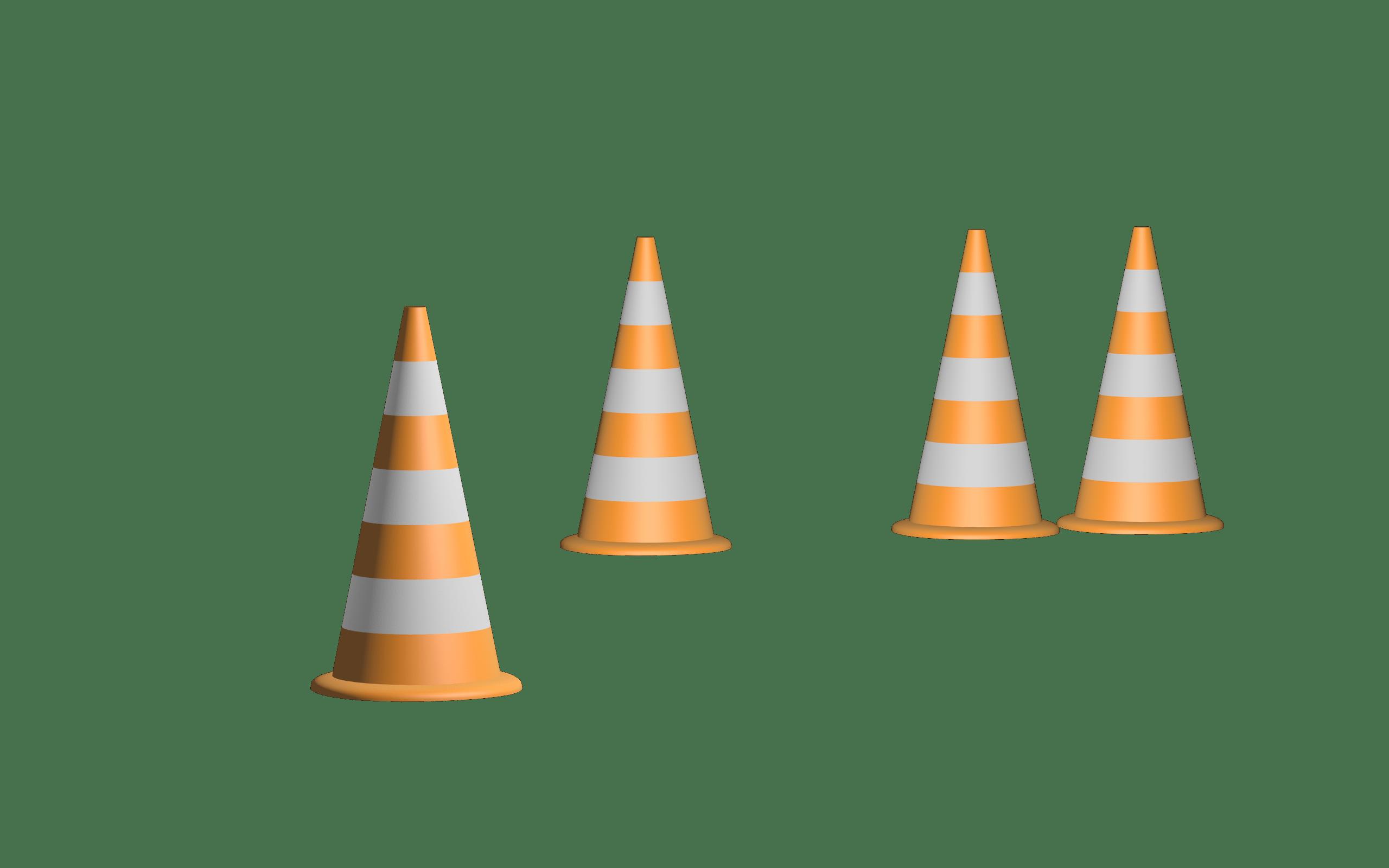 baukegel, shield, cone