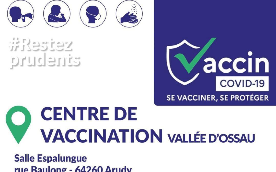 Réouverture du centre de vaccination de la Vallée d'Ossau